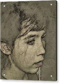 In Her Own World Acrylic Print by Gun Legler