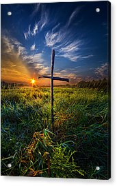 In His Glory Acrylic Print by Phil Koch