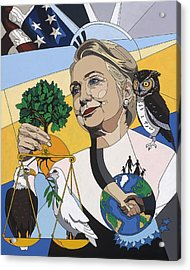 In Honor Of Hillary Clinton Acrylic Print by Konni Jensen