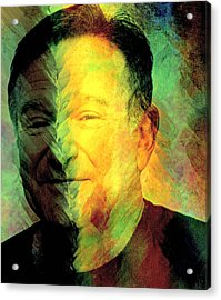 In Memory Of Robin Williams Acrylic Print by Ally  White
