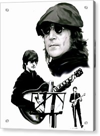 In My Life  John Lennon Acrylic Print by Iconic Images Art Gallery David Pucciarelli