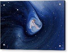 In My Safe Dreambubble Through Space Acrylic Print by Gun Legler