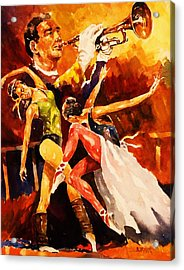 In Rehearsal Acrylic Print by Al Brown