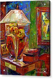 In The Corner Of My Studio Acrylic Print by Charlie Spear