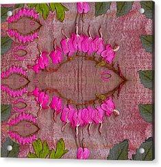 In The Eye Of The Koi Pop Art Acrylic Print by Pepita Selles