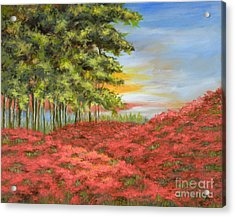 In The Field Of Poppies Acrylic Print by Vic  Mastis
