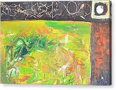 In The Garden Acrylic Print by Robert Daniels