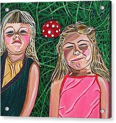 In The Garden Acrylic Print by Sandra Marie Adams