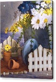 In The Garden Acrylic Print by Tom Mc Nemar