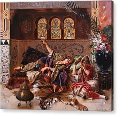 In The Harem Acrylic Print by Rudolphe Ernst