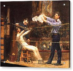 In The Mid Time Detail Acrylic Print by Thomas Eakins
