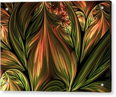 In The Midst Of Nature Abstract Acrylic Print by Georgiana Romanovna