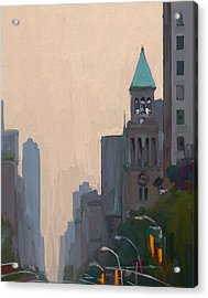 In The New York City Mountains Acrylic Print by Nop Briex