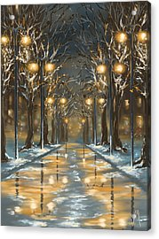 In The Park Acrylic Print by Veronica Minozzi