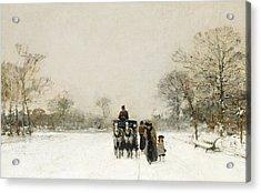 In The Snow Acrylic Print by Luigi Loir