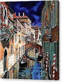 Inchiostro Su Venezia Acrylic Print by Guido Borelli