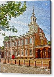 Independence Hall Philadelphia  Acrylic Print by Tom Gari Gallery-Three-Photography