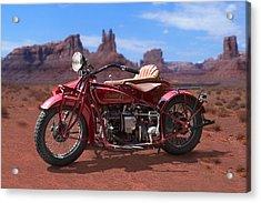 Indian 4 Sidecar 2 Acrylic Print by Mike McGlothlen