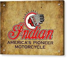 Indian America's Pioneer Motorcycle Acrylic Print by Mark Rogan