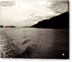 Indian Arm Fjord And Mountains Acrylic Print by Carol Cottrell