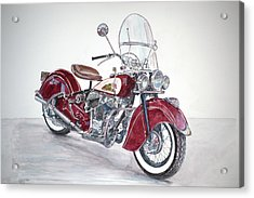 Indian Motorcycle Acrylic Print by Anthony Butera