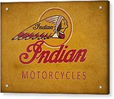 Indian Motorcycles Acrylic Print by Mark Rogan