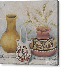 Indian Pots Acrylic Print by Summer Celeste