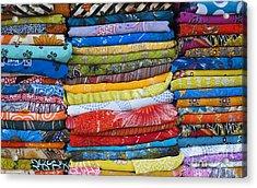 Indian Sari Pattern Acrylic Print by Tim Gainey