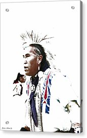 Indian Warrior Acrylic Print by Robert Jensen