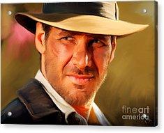 Indiana Jones Acrylic Print by Paul Tagliamonte