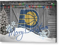 Indiana Pacers Acrylic Print by Joe Hamilton