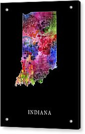 Indiana State Acrylic Print by Daniel Hagerman