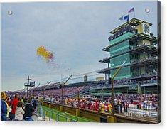 Indianapolis 500 May 2013 Balloons Race Start Acrylic Print by David Haskett
