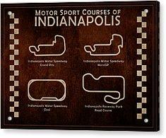 Indianapolis Courses Acrylic Print by Mark Rogan