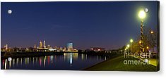 Indianapolis From White River Acrylic Print by Twenty Two North Photography