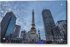 Indianapolis Indiana Monument Circle Blue  Acrylic Print by David Haskett