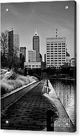 Indianapolis Skyline 21 Acrylic Print by David Haskett