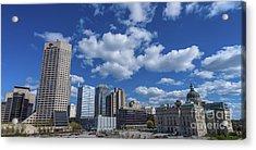 Indianapolis Skyline Low Acrylic Print by David Haskett
