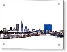 Indianapolis White Out Acrylic Print by David Haskett