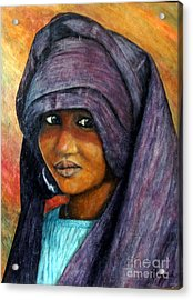 Indigo Girl Acrylic Print by Joey Nash