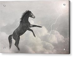 Indigo Lightning Acrylic Print by Pamela Hagedoorn
