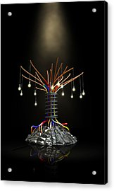 Industrial Future Tree Acrylic Print by Allan Swart