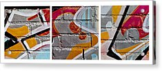 Industrial Graffiti Acrylic Print by Art Block Collections