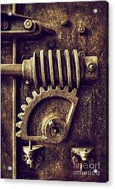 Industrial Sprockets Acrylic Print by Carlos Caetano