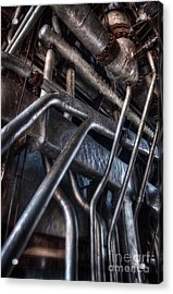 Industrial Structure Acrylic Print by Carlos Caetano
