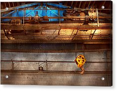 Industrial - The Gantry Crane Acrylic Print by Mike Savad