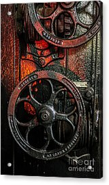 Industrial Wheels Acrylic Print by Carlos Caetano