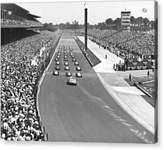 Indy 500 Parade Lap Acrylic Print by Underwood Archives