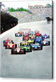 Indy Acrylic Print by Lyle Brown