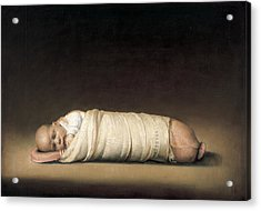 Infant Acrylic Print by Odd Nerdrum